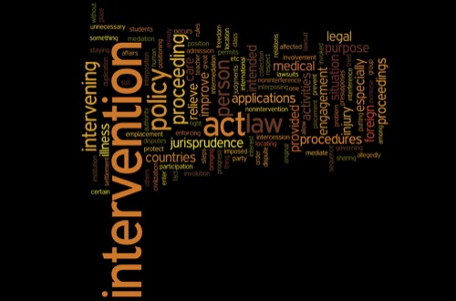 government intervention in firm action Definition of government intervention: regulatory actions taken by a government in order to affect or interfere with decisions made by individuals, groups, or organizations regarding social and economic matters.